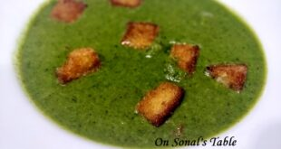 Broccoli and spinach soup